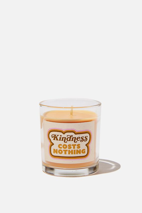 Talk To Me Candle Small, KINDNESS COSTS NOTHING