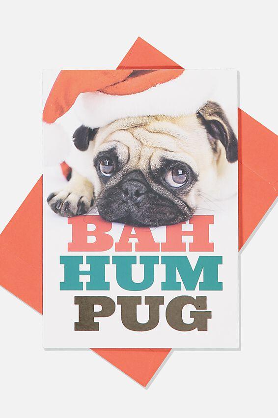 Christmas Card, BAH HUM PUG