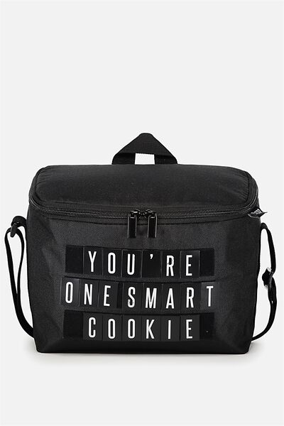 Premium Cooler Lunch Bag, VELCRO BLACK