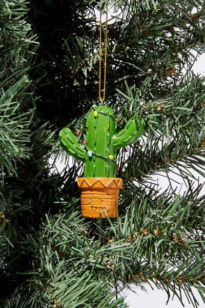 Christmas Ornament, CACTUS IN POT