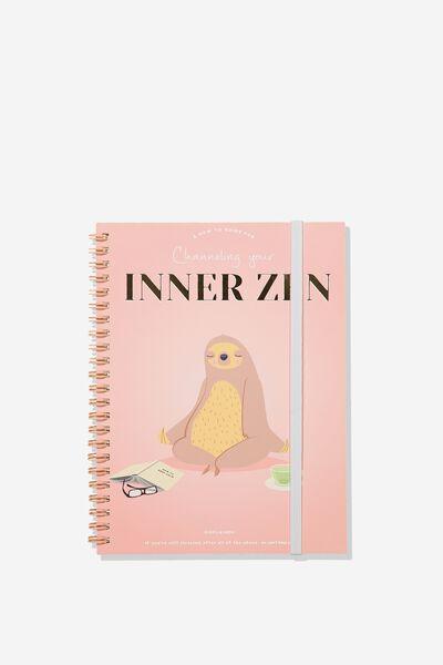Small Spinout Notebook - V, SLOTH ZEN!