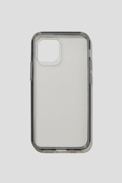 Protective Phone Case 6, 7, 8, SE, CLEAR WITH SEMI-TRANSPARENT BLACK