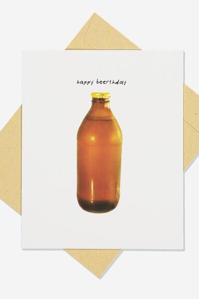 Funny Birthday Card, BEERTHDAY