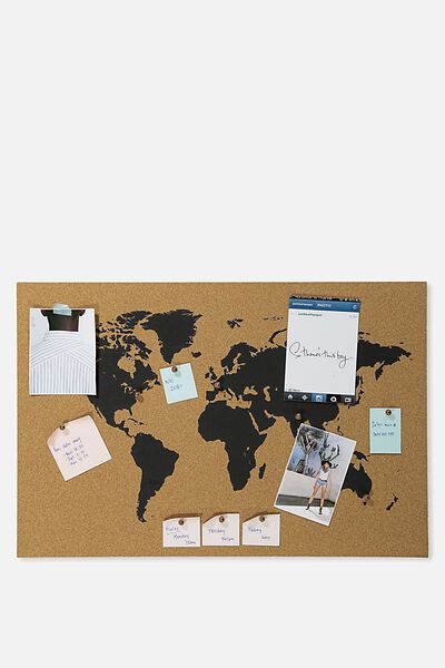Wall art what a corker cork board world map typo gumiabroncs Gallery