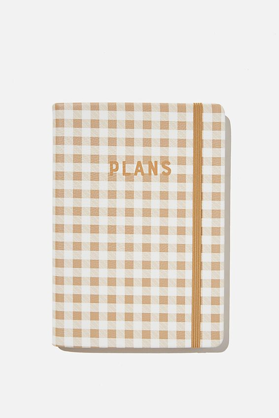A5 Undated Weekly Buffalo Diary, DRIFTWOOD GINGHAM