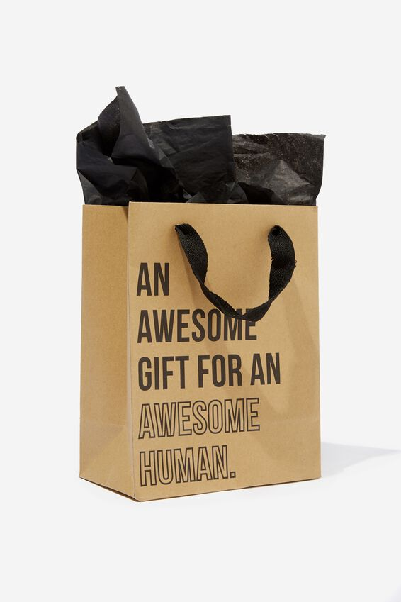 Small Gift Bag with Tissue Paper, AWESOME GIFT