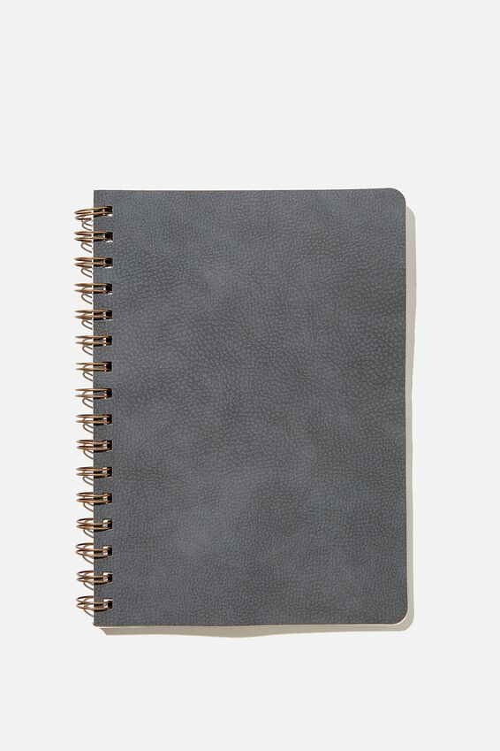 A5 Dot Daily Scribe Notebook, WELSH SLATE