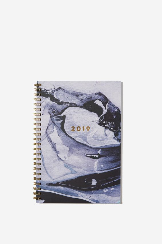 2019 Hardcover Spiral Diary, MARBLE