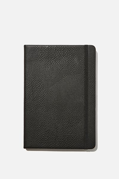 "A5 Dot Buffalo Journal (8.27"" x 5.83""), BLACK"