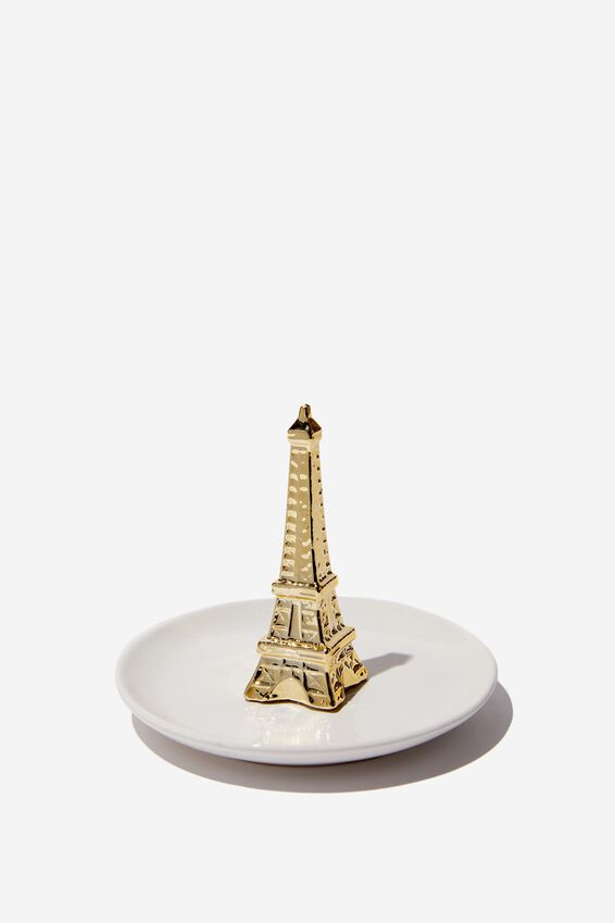 Novelty Trinket Tray, GOLD EIFFEL TOWER