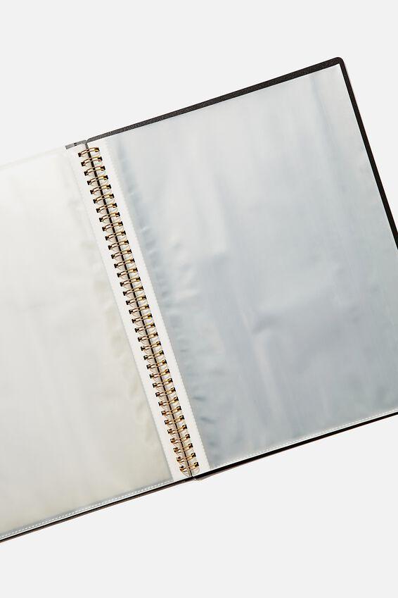 A4 Display Folder, BLACK SPLATTER HUSTLE