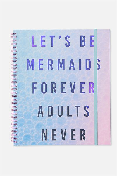 College Ruled Spinout Notebook V, MERMAIDS FOREVER