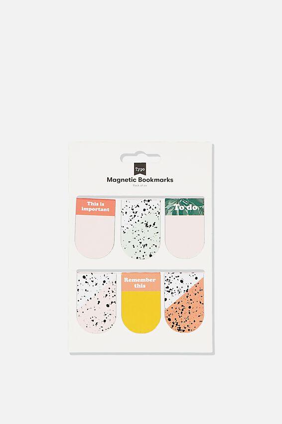 6Pk Magnetic Bookmark, SPLATTER   SPLICE