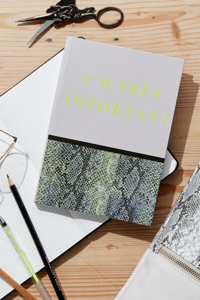 A5 High Shine Notebook, TRES IMPORTANT SNAKESKIN
