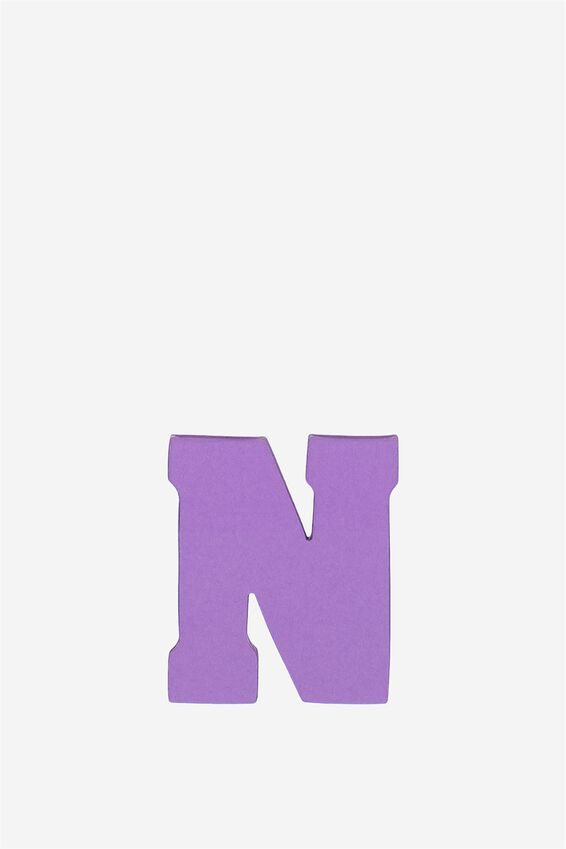 Alphabet Sticky Notes, N PURPLE