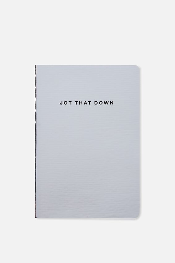 A5 Medium High Shine Notebook, SILVER