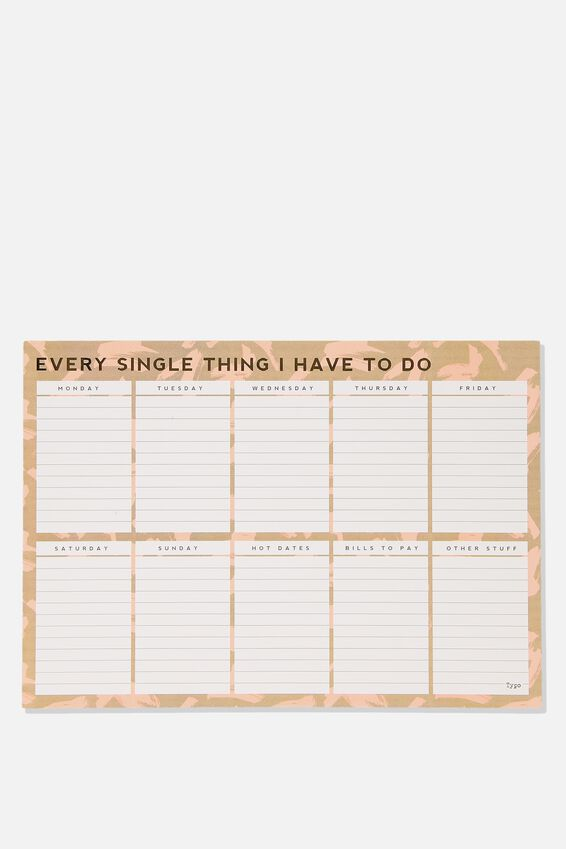 A3 Plan Ahead Planner, PAINT STROKES EVERY SINGLE THING