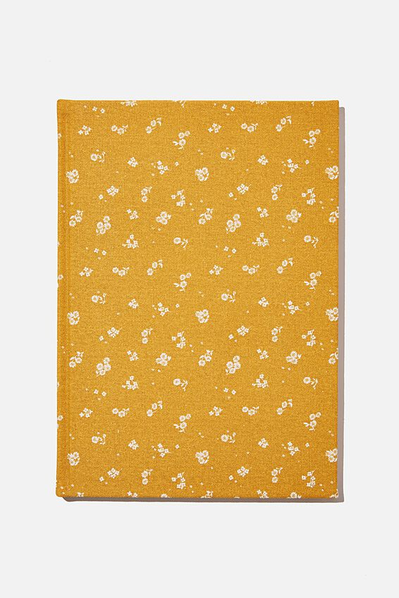 2021 A4 Oxford Weekly Diary, DOTTIE FLORAL MUSTARD