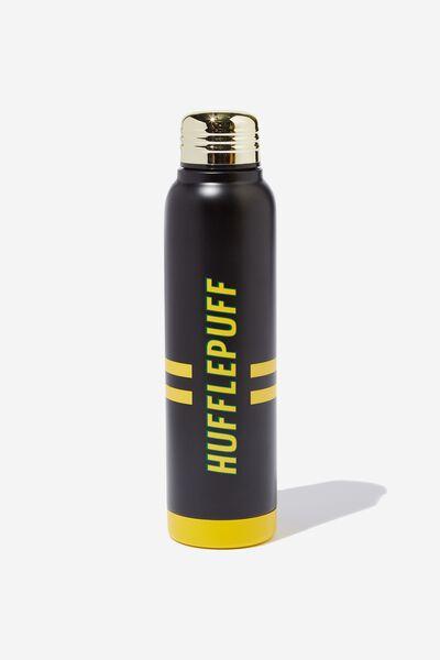 Premium Small Metal Drink Bottle, LCN WB HUFFLEPUFF