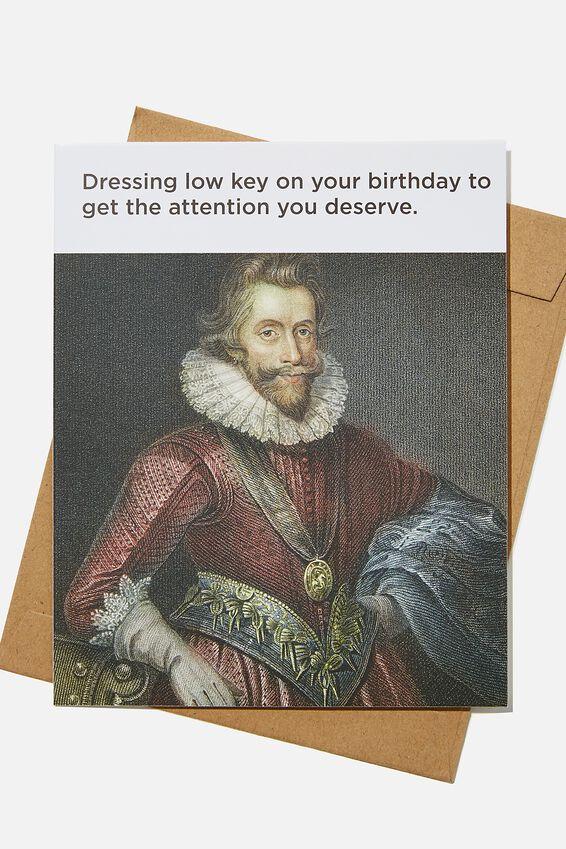 Nice Birthday Card, DRESSING LOW KEY BIRTHDAY MEME