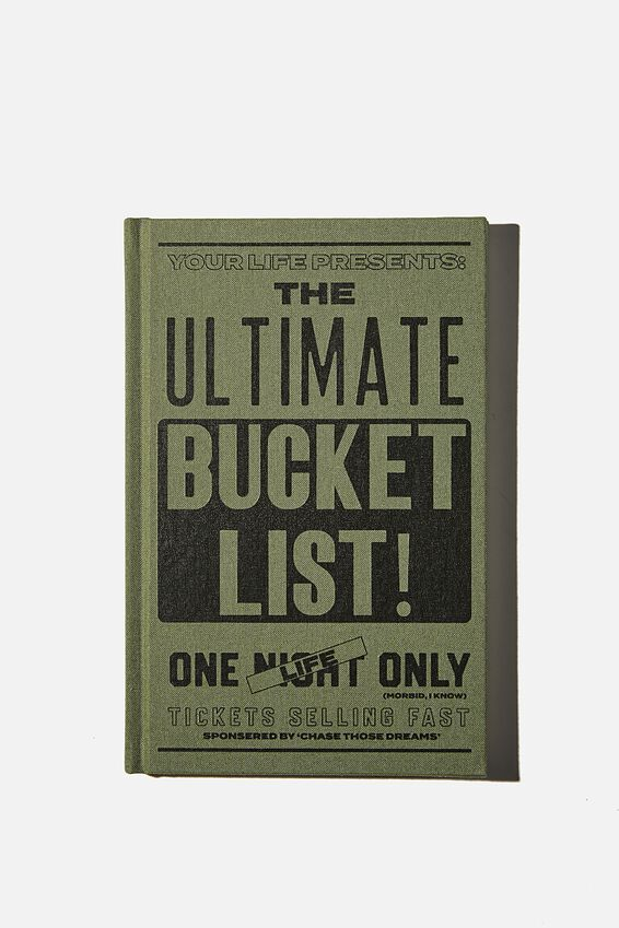 "A5 Activity Book (8.27"" x 5.83""), ULTIMATE BUCKET LIST"