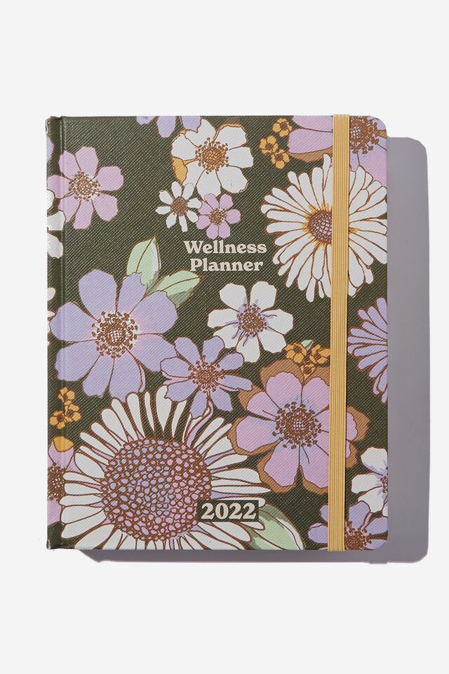 2022 Small Daily Wellness Planner, SUNNIE FLORAL