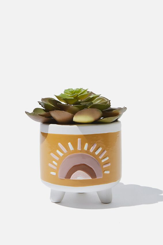 Small Shaped Planter, SUNSET YELLOW