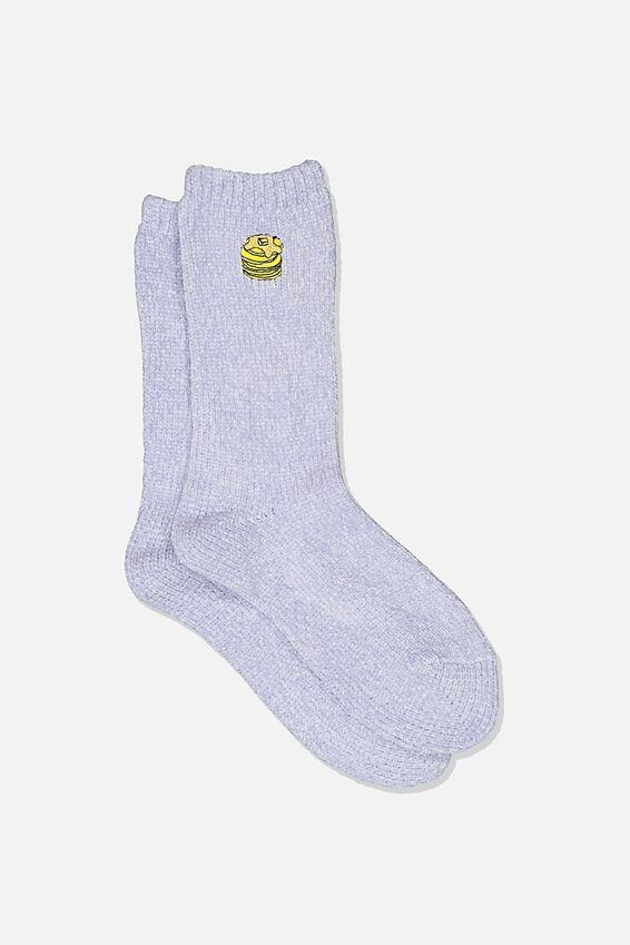 Textured Socks, CHENILLE PANCAKES