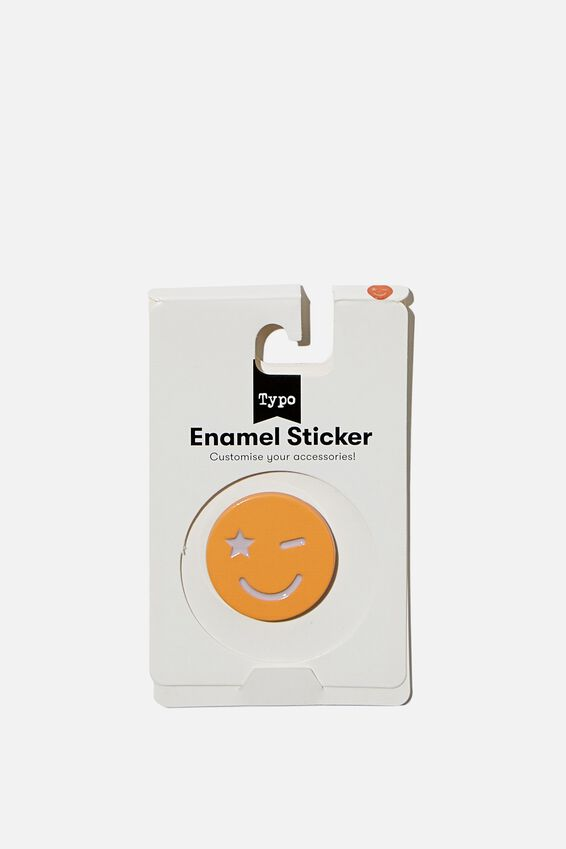 Enamel Stickers, PEACH SMILEY