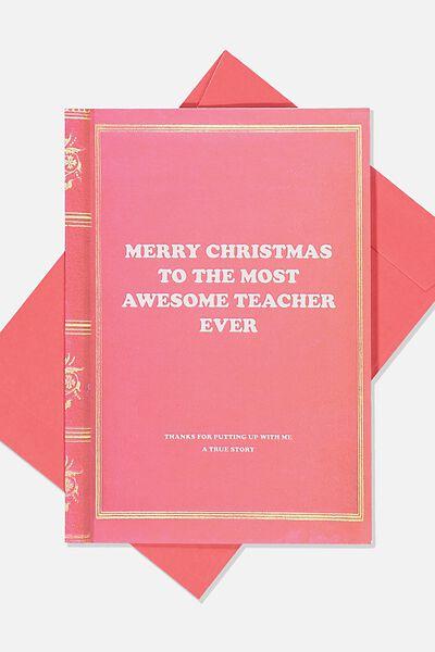 Christmas Card 2019, TEACHER