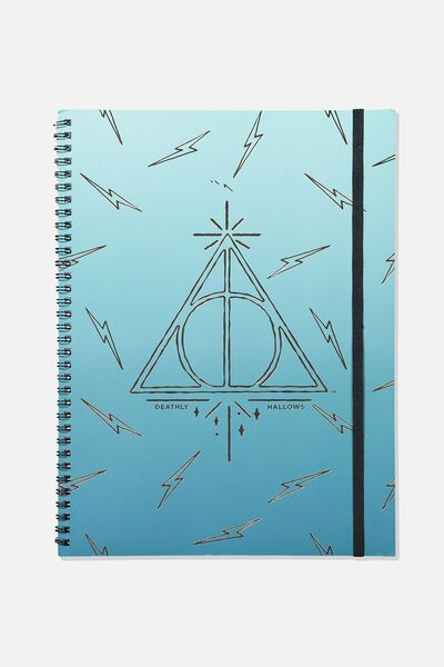 A4 Spinout Notebook - 120 Pages, LCN HARRY POTTER DEATHLY HALLOWS