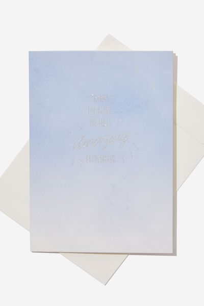 Bridesmaid Card, THANKS BLUE OMBRE