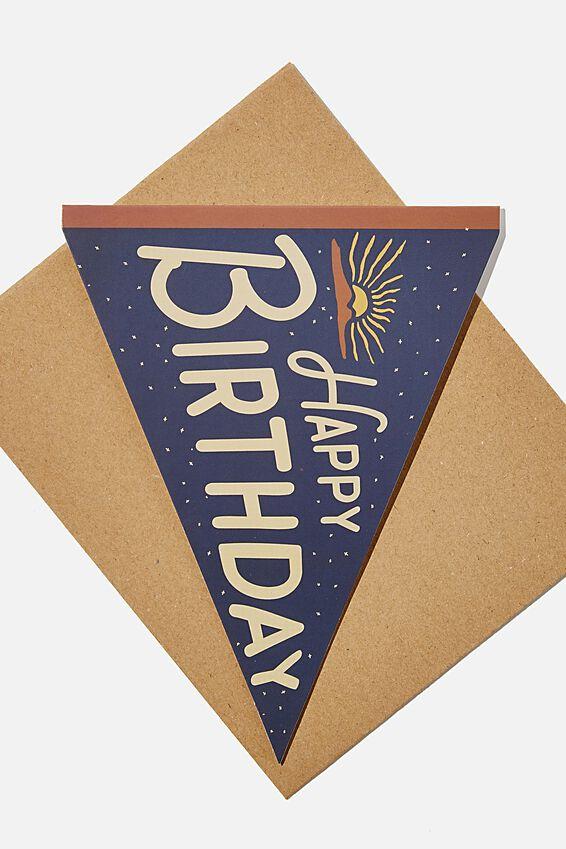 Premium Nice Birthday Card, DIECUT YOU AMAZING HUMAN PENNANT