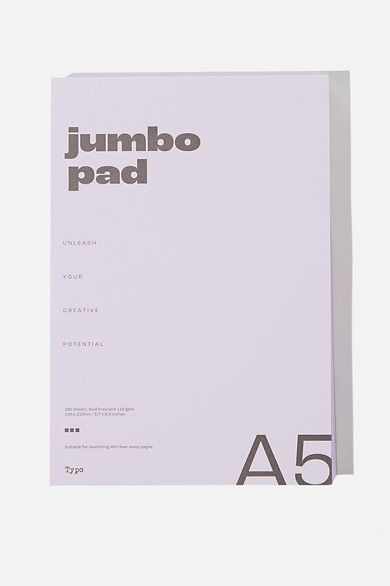 The Chunky A5 Art Pad, PALE LILAC