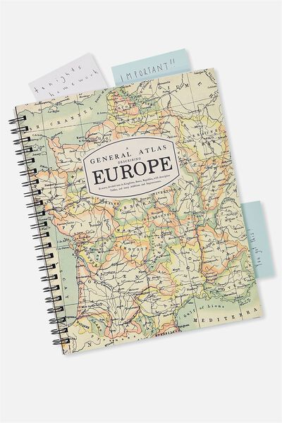 A4 Campus Notebook - 240 Pages, EUROPE MAP