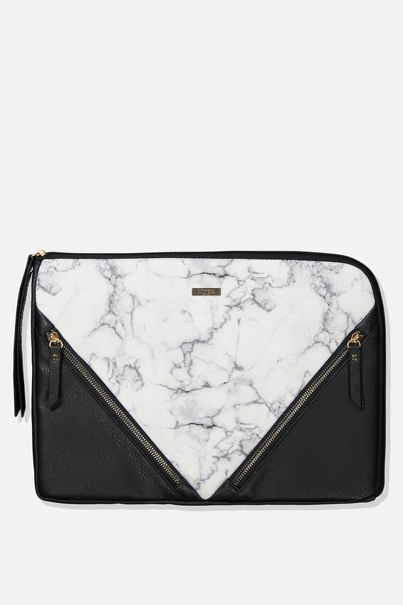 Premium Laptop Case 13 inch, WHITE MARBLE