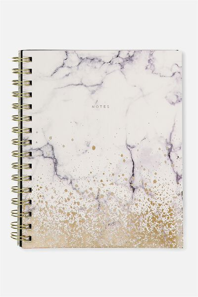 A5 Campus Notebook - 240 Pages, MARBLE NOTES