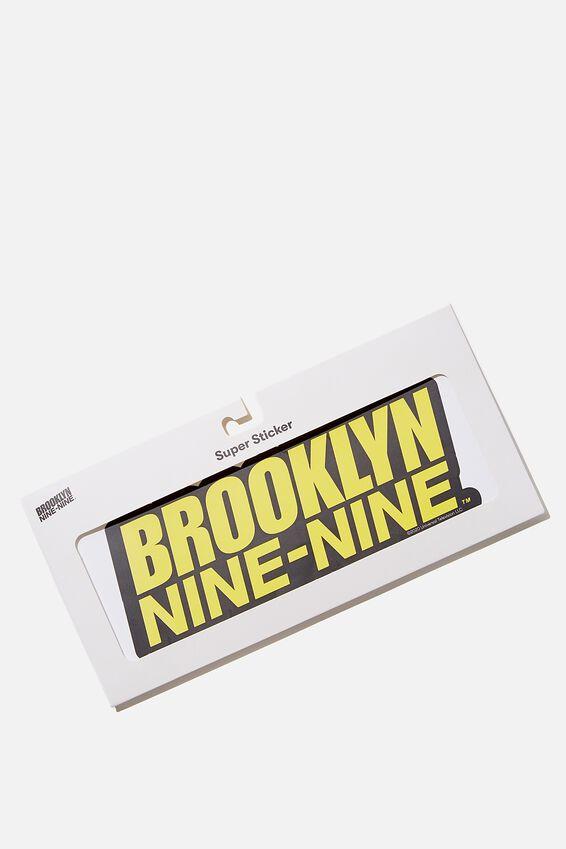 Brooklyn Nine-Nine Super Sticker, LCN UNI BR BROOKLYN 99