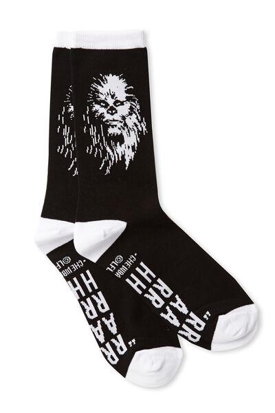 Mens Novelty Socks, LCN CHEWBACCA