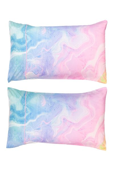 Novelty Pillow Cases Set Of 2, MARBLE