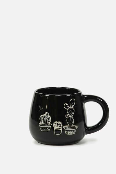 Subtle-Tea Mug, DEBOSSED CACTUS
