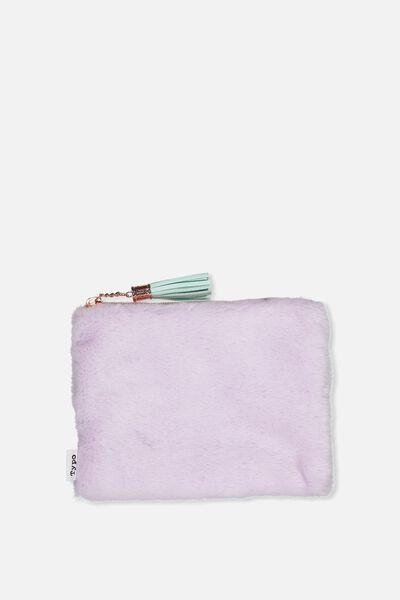 Novelty Pencil Case, PLUSH LILAC