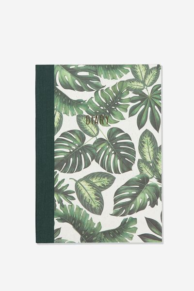 A5 Understated Undated Diary, MONSTERA