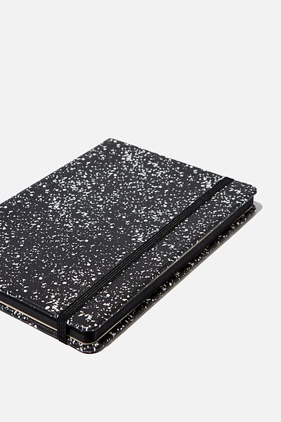 "A5 Dot Buffalo Journal (8.27"" x 5.83""), BLACK SPLATTER"