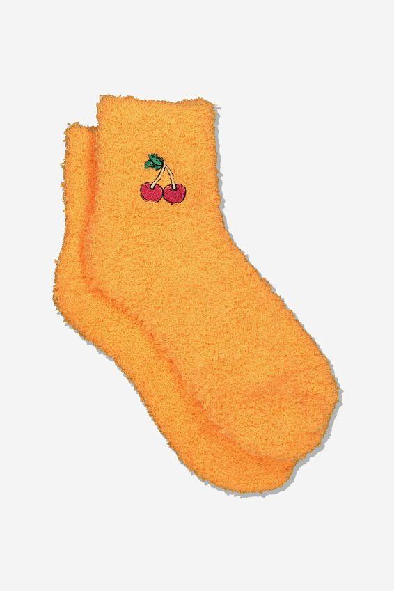 Slipper Sock, CHERRY