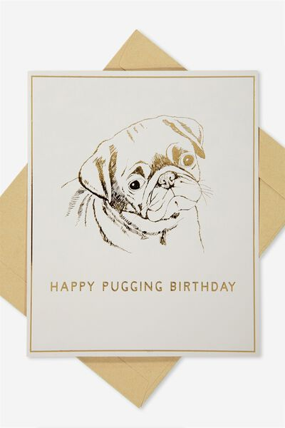 Nice Birthday Card, PUG