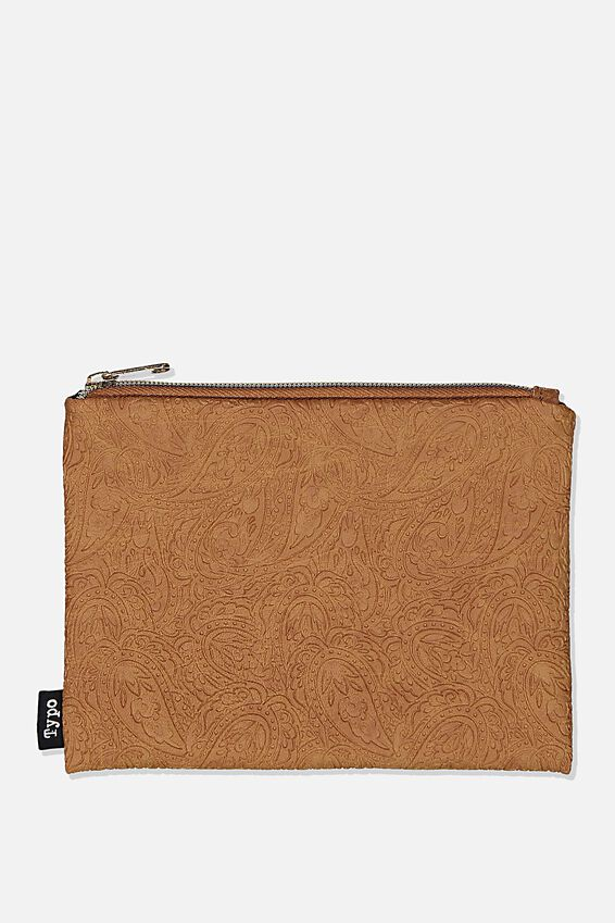 Pu Campus Pencil Case, TOOLED PAISLEY