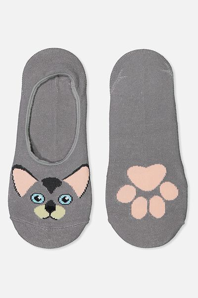 Novelty Hidden Sock, CAT