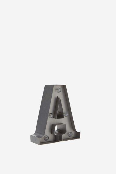 Mini Marquee Letter Lights 10cm, SILVER A