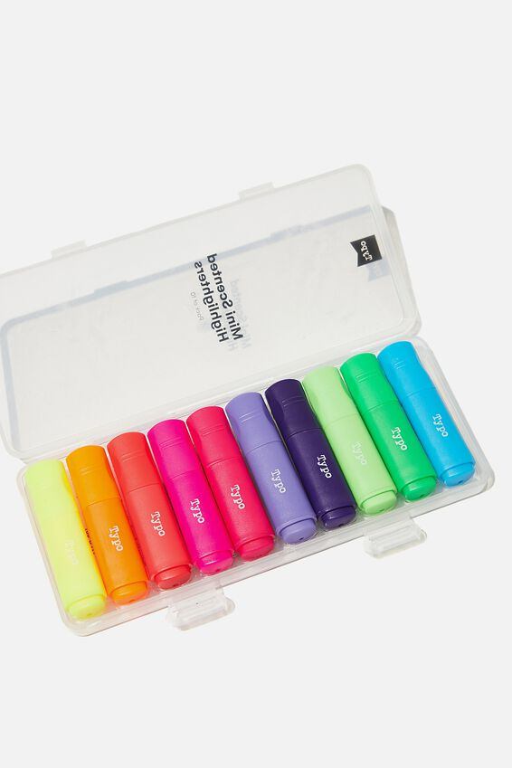 Mini Highlighter 10Pk, BRIGHTS